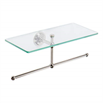 Ginger 2636T London Terrace Glass Shelf with Towel Bar