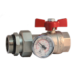422M - BALL VALVE WITH PIPE UNION AND THERMOMETER