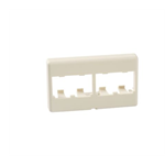Mini-Com® Furniture Faceplates - 4 Module - Off White