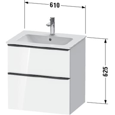 de4361 d-neo vanity unit wall-mounted