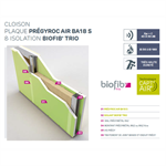 anti-voc drywalls - siniat pregymetal - ei60 - bio-sourced insulation biofib