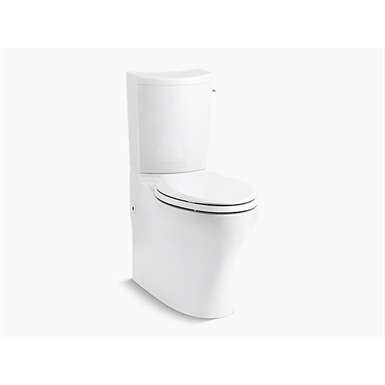 Persuade® Curv Comfort Height® Two-piece elongated dual-flush chair height toilet with right-hand trip lever