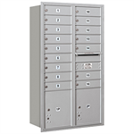 3700 Series Recessed Mounted 4C Horizontal Mailboxes - Rear Loading - 13 Door High Units