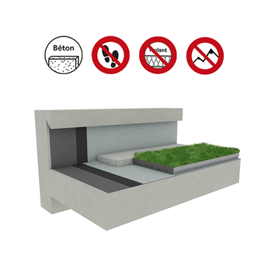 systems for green roof concrete