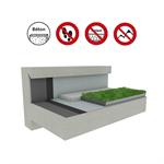 systèmes pour toiture terrasse végétalisée béton