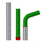 recess tube-curved (interruptions deposit expansion joints and recesses)