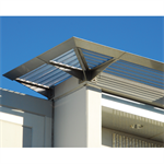 7750 - Sunshade with corrugated panel top