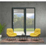 Single French door - IN'ALPHA 70 - PF1 - Covered block frame installation