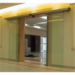 Automatic door - Bi-parting sliding without fixed leaves, reduced top rail only