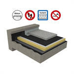 systems for non-accessible insulated roof with heavy protection on concrete deck