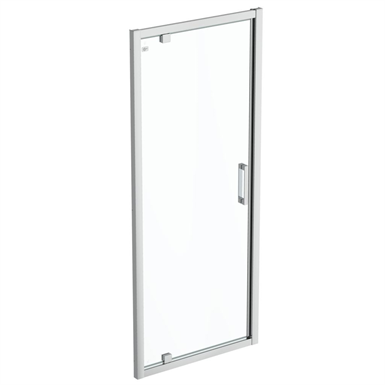 connect 2 pivot door 85 clear glass bright silver finish