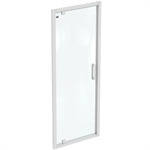 connect 2 pivot 80cm , door without handle,  white frame and clear glass