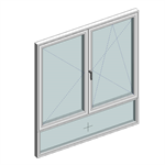 STRUGAL S74RP Window (Two-Leaf+Fixed-Lower)