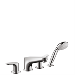 Focus 4-hole rim mounted bath mixer 31936000