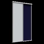 porte de placard coulissante premio (1 partition) 2 portes