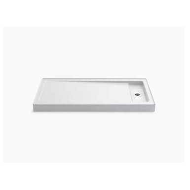 """Bellwether® 60"""" x 32"""" single-threshold shower base with right offset drain"""