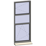 vertical strip windows - 3 zones