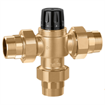 Adjustable thermostatic mixing valve, for centralized systems