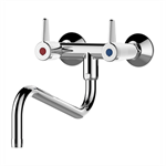 70806 - presto chef wall-mounted mixer tap with 2 holes – downward spout