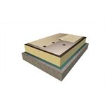 système d'étanchéité de toiture fixé mécaniquement avec sarnafil ts-77 (membrane synthétique)