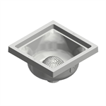 FS12 Square Polymer Floor Sink with 6-3/8 Sump Depth