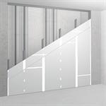 sw100/125; ei30; 32db; austria; shaft wall with single metal stud frame, double-layer cladding