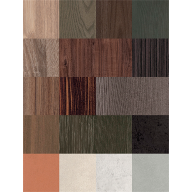 resopal coordinated surfaces stones & materials - melamine faced board (mfb/mfc)