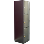 3-Compartment Locker Arched Steel Door W:300 D:500 H:1700