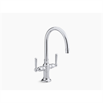 hirise™ single-hole bar sink faucet with lever handles