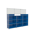 rezeptionstheke mit schutzaufsatz aus glas, modular