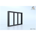 MB-77HS ST Double sliding door with fixed panel