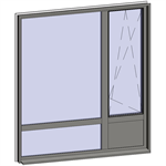 multi-paned windows - 4 compound zones