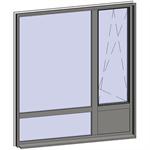multi-paned windows - 4 compound zones