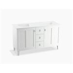 "poplin® 60"" bathroom vanity cabinet with legs, 2 doors and 3 drawers"