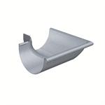 gutter corner half-round (size 333, outside 90°, deep-drawn, prepatina blue-grey)