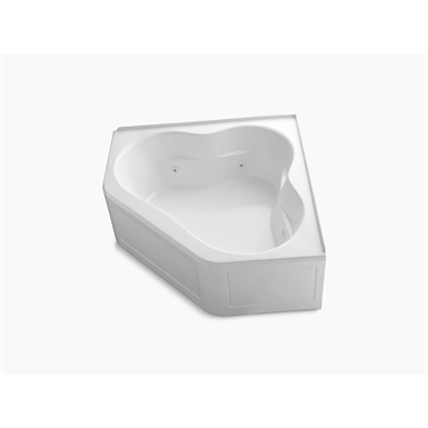 """k-1160-la-0 tercet® 60"""" x 60"""" alcove whirlpool with integral flange and center drain"""