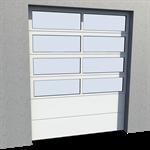 industrial glazed panel door 02 normal lift in slope