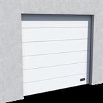 industrial veined wood door ral 9010 normal and high lift