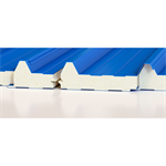 Roof sandwich panels with PIR/PUR core