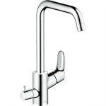 Focus Single lever kitchen mixer 260 with device shut-off valve 31823000