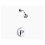 coralais® rite-temp® shower valve trim with lever handle and 2.5 gpm showerhead