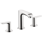 Metris 3-hole basin mixer 100 with pop-up waste set 31083001