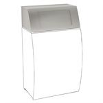 stratos folding self-closing lid for waste bin strx608
