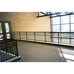 Aluminum Picket Railing, Picket Railing With Top Rail And Two Mid-Rails, Plus Bottom Rail