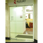 Automatic door - Single slide right with fixed leaf, top rail only