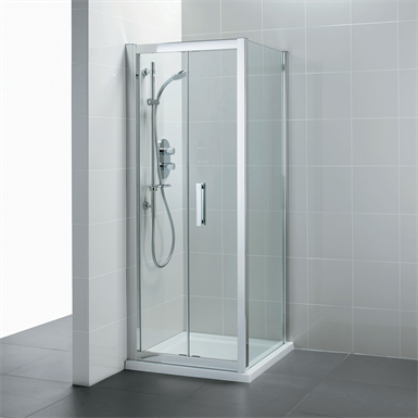 synergy 900mm shower side panel clear glass