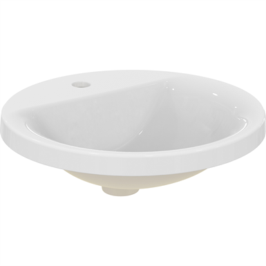 connect counter top basin 48x48 wht 1th nof sphere