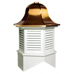 Richmond Series Louvered Cupola Is A Hexagon With A Bell Style Roof