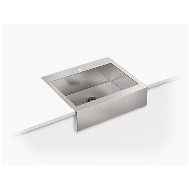 """vault™ 29-3/4"""" x 24-5/16"""" x 9-5/16"""" self-trimming® top-mount single-bowl stainless steel apron-front kitchen sink for 30"""" cabinet"""