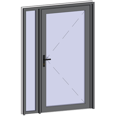 grand trafic doors - single outward opening with left fixed